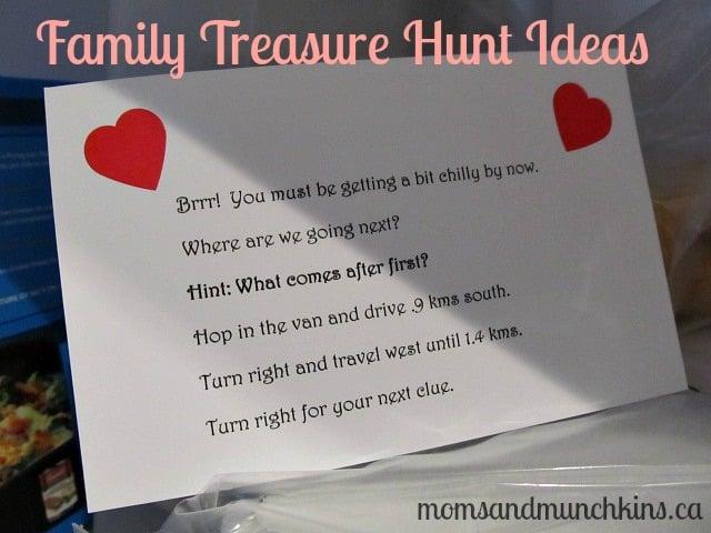 Family Treasure Hunt Ideas - Clues
