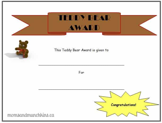 Teddy Bear Picnic Ideas Certificate Moms Amp Munchkins