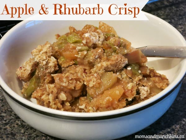 Apple Rhubarb Crisp & A Fun Play Date