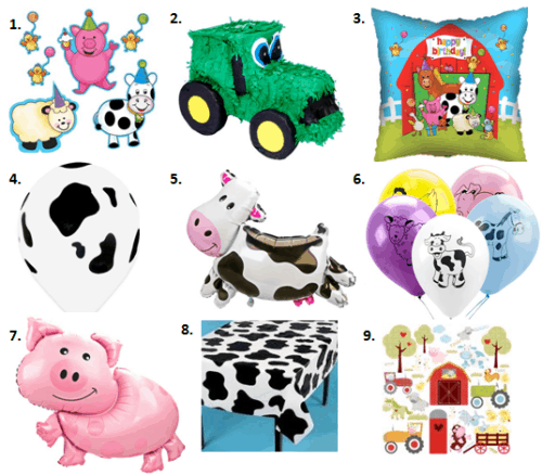 Barnyard animals party ideas moms munchkins for Animal party decoration ideas
