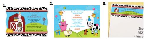 Barnyard Animals Party - Invitations