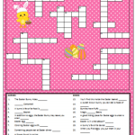 Easter Crossword Puzzle for Kids