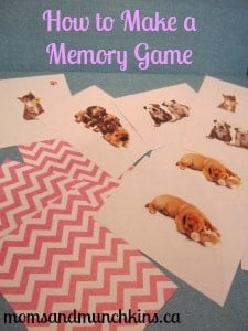 How to Make a Memory Game - Directions