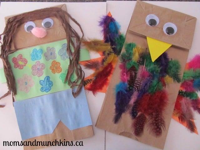 Paper Bag Puppet Crafts