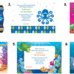 Under The Sea Party - Invites