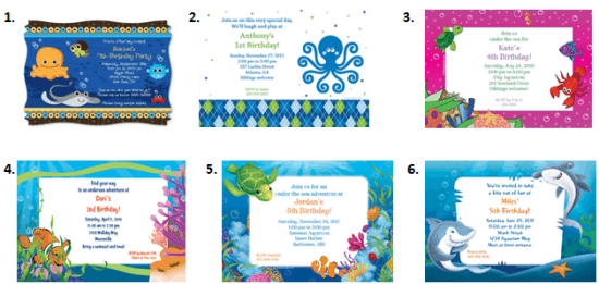 Under The Sea Party Ideas Moms Munchkins – Ocean Party Invitations
