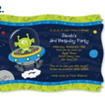 Outer Space Theme - Invitations