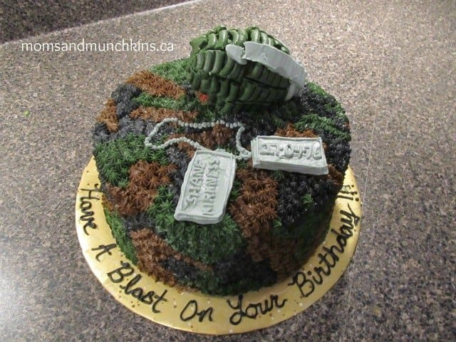 Camo Birthday Party - Cake