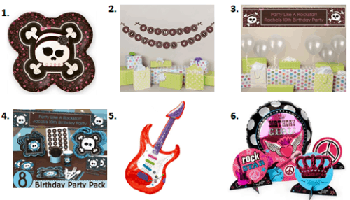 Party Like a Rock Star - Decorations