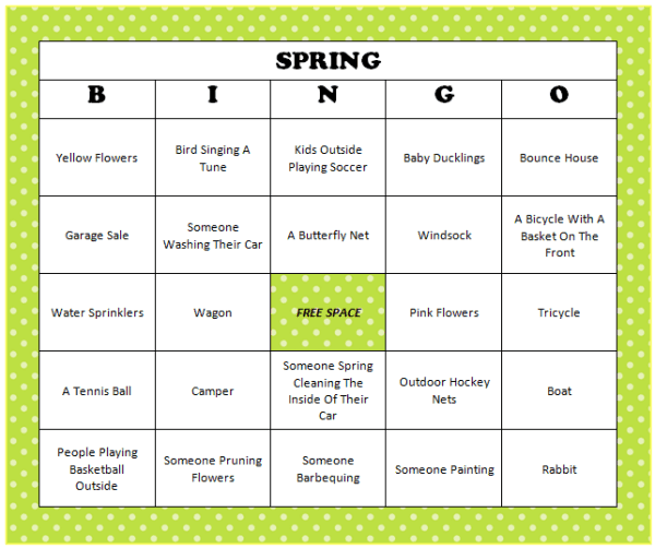 graphic relating to Spring Bingo Game Printable known as Spring Bingo (Absolutely free Printable Activity) - Mothers Munchkins