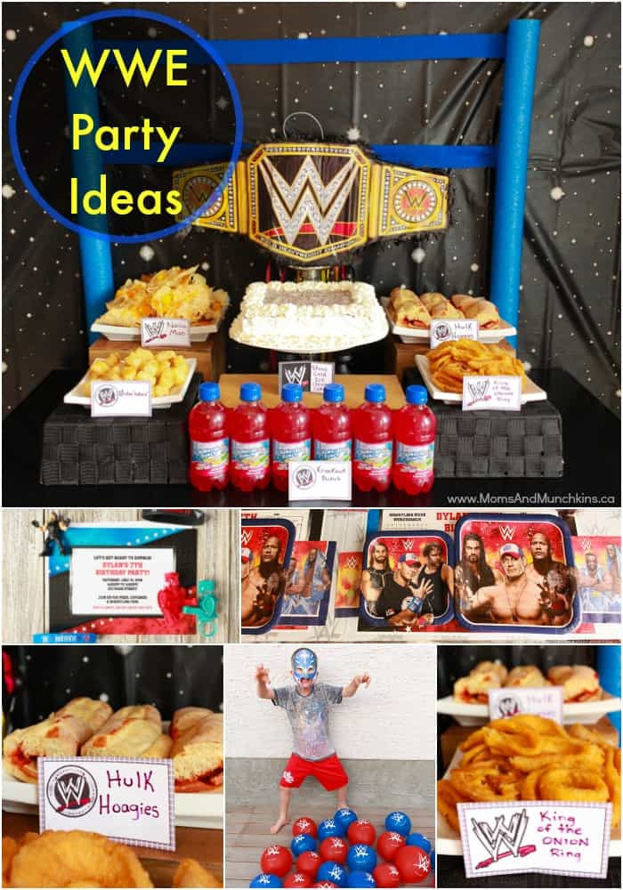 Wwe Birthday Party Ideas For Kids Moms Munchkins