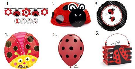 Ladybug Birthday Party Decorations