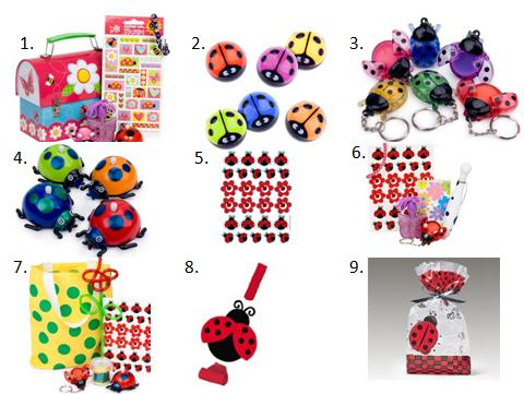 Ladybug Birthday Party Favors