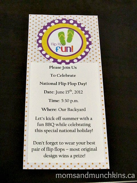 National Flip Flop Day Invitation