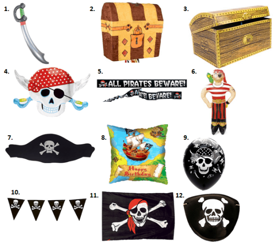 pirate party decorations - Pirate Decorations