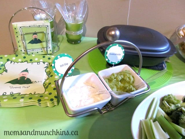 Sweet Pea Baby Shower Dip Ideas