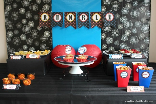Wwe birthday party ideas for kids moms amp munchkins