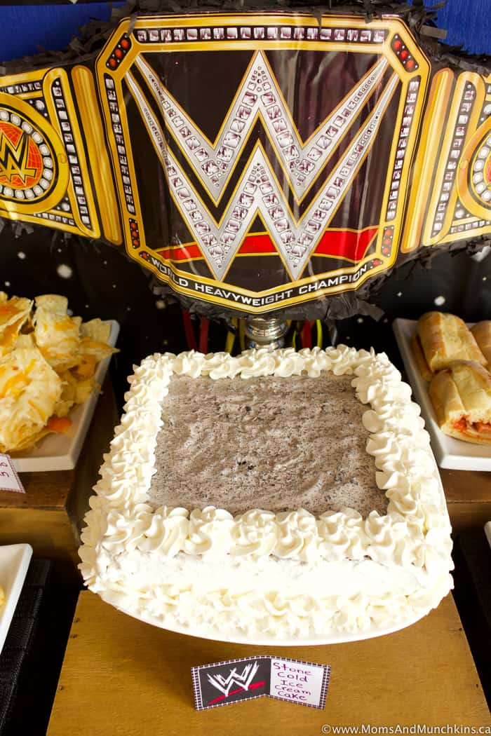 WWE Birthday Party Dessert