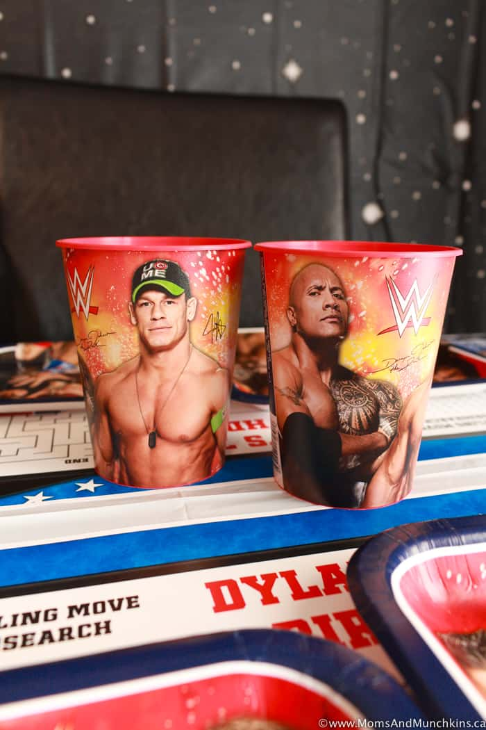 WWE Party Cups