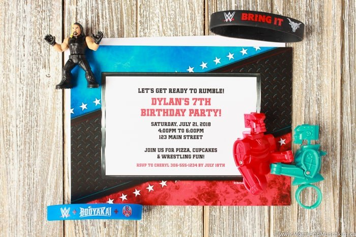 WWE Party Invitation