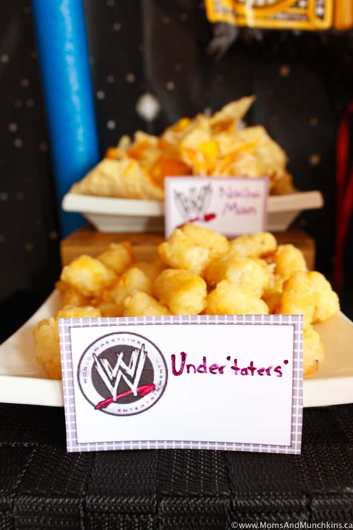 WWE Birthday Food