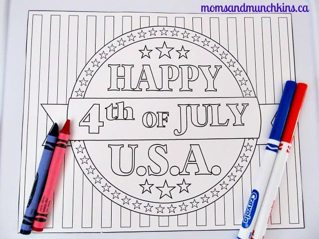 4th of July Activities for Kids Coloring