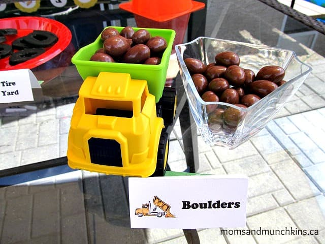 Construction Birthday Food