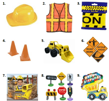 Construction Birthday - Decorations