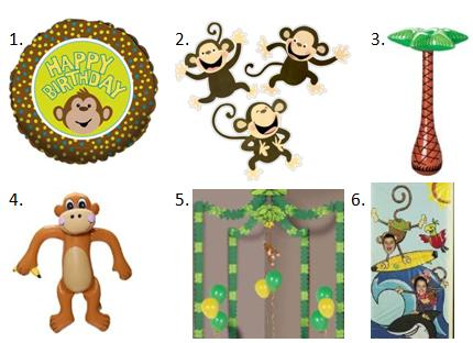 Monkey Birthday Decor