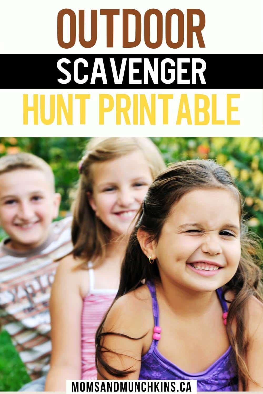 Printable Outdoor Scavenger Hunt