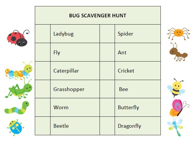 Bug-Scavenger-Hunt