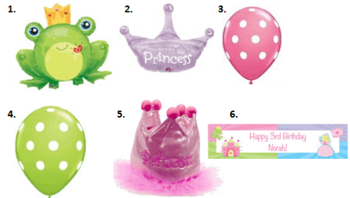 Frog Prince Party - Decorations