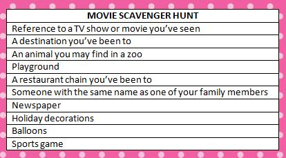 Movie Scavenger Hunt