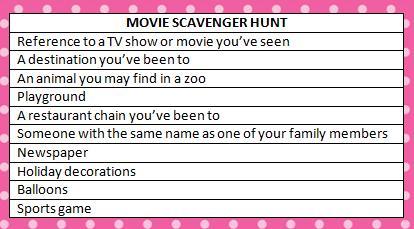 movie scavenger hunt ideas moms amp munchkins