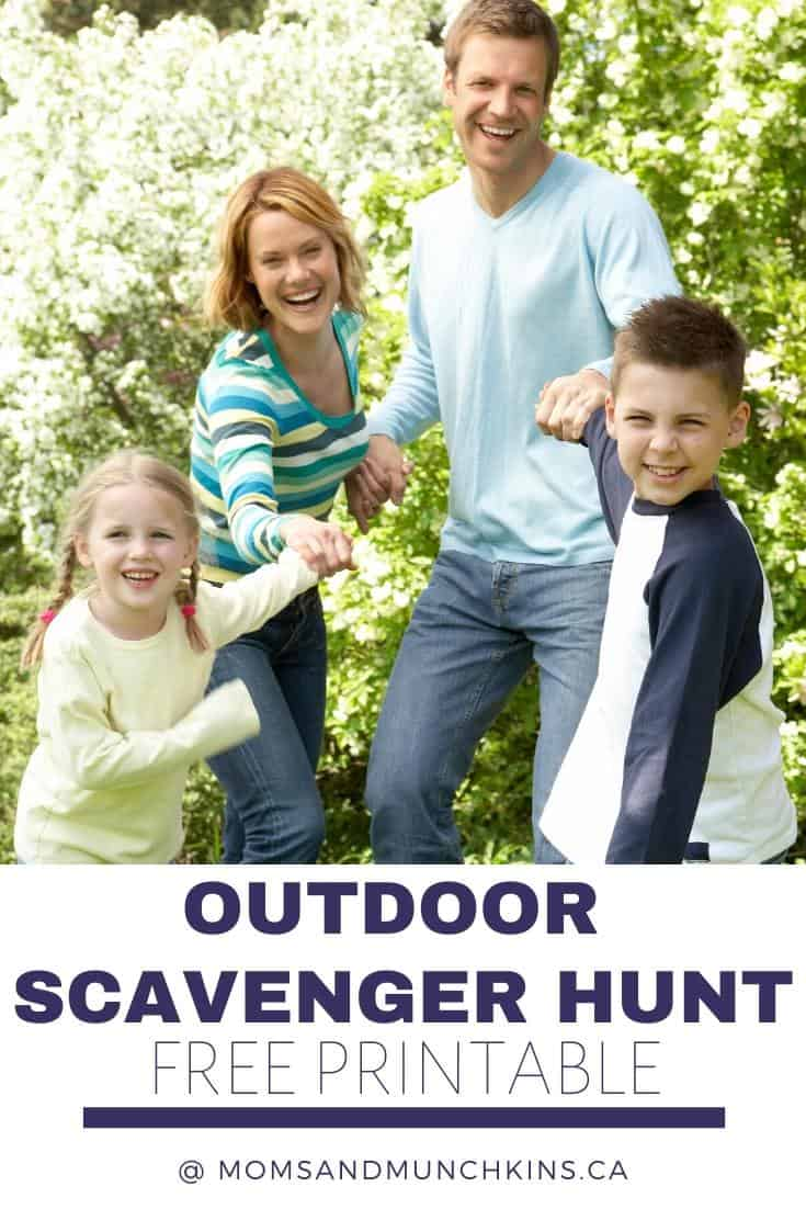 outdoor scavenger hunt ideas