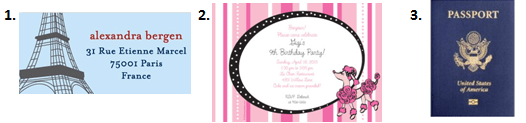 Paris Themed Party - Invitations