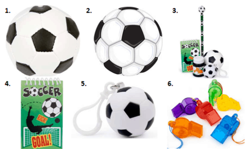 Soccer Birthdays - Favors