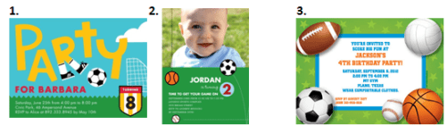 Soccer Birthdays - Invitations