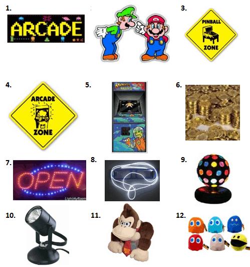 Arcade Party - Decorations