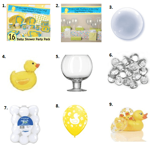 Ducky Baby Shower Ideas - Decorations