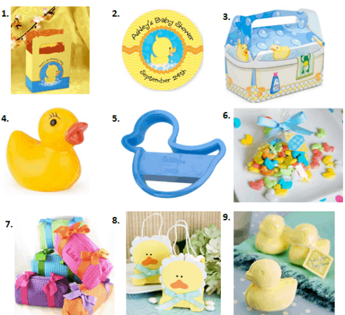 Ducky Baby Shower Ideas - Favors