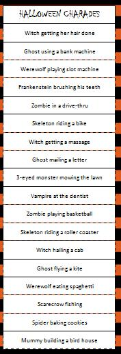 picture relating to Halloween Charades Printable named Halloween Charades Match - Mothers Munchkins