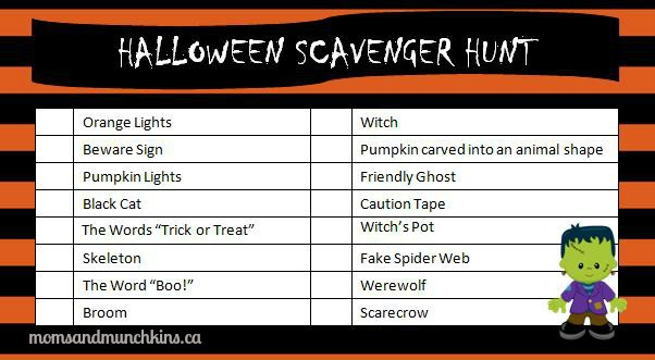 halloween-scavenger-hunt - Moms & Munchkins