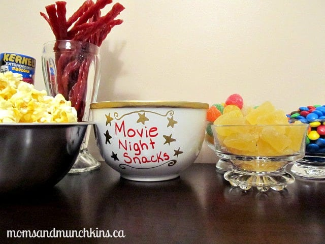 Movie Night Snacks Bowl