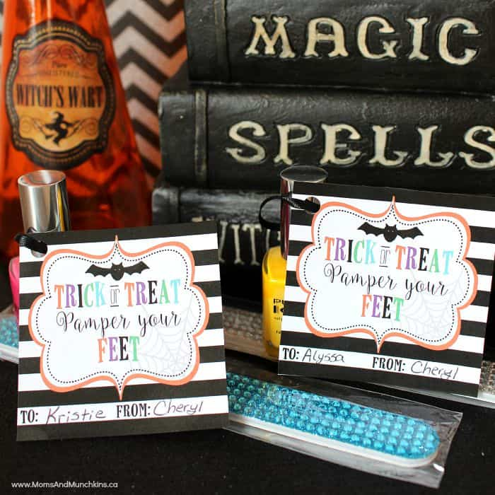 Halloween Printable Tags for Girls