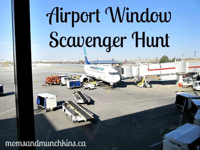 Airport Game - Window Scavenger Hunt