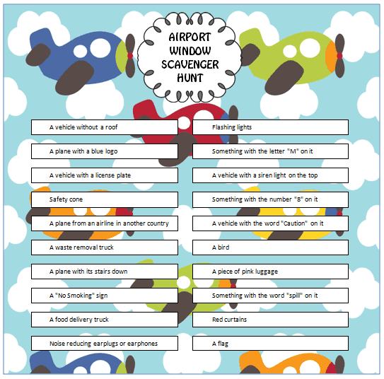... more airport game ideas? Then check out these free printable games
