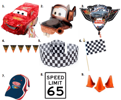 Racing Birthday - Decorations