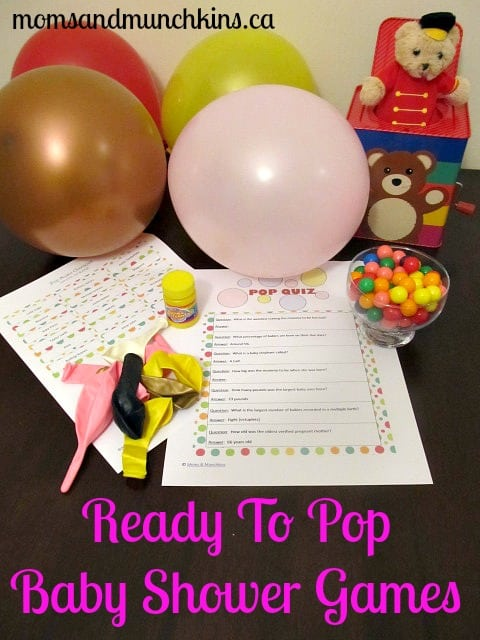 Ready to Pop Baby Shower Games