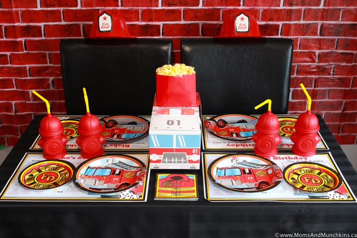 Firefighter Birthday Party Table